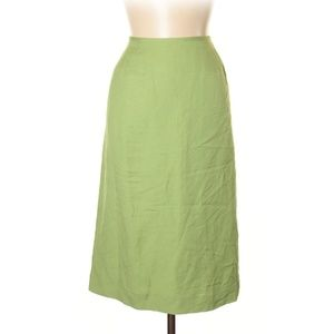 """Le Suit Lime Green """"Birds of Paradise"""" Skirt"""